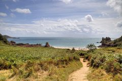 Beauport Bay, Jersey Stock Image