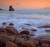 Beauport Beach in Jersey. Beautiful Beauport Beach in Jersey at hight tide Stock Image