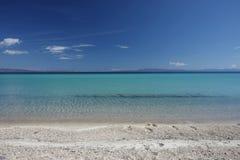 Beauriful nuances of blue colour on the beach Royalty Free Stock Photos
