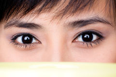 Beauriful woman's eye close up stock image