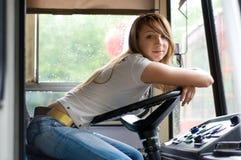 Beauté à la cabine de trolleybus image libre de droits