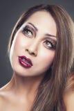 Beauté asiatique avec la peau parfaite photos stock