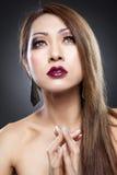 Beauté asiatique avec la peau parfaite image libre de droits