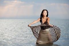 Beauté asiatique dans la robe Images stock