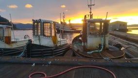 Beauté au dock de bateau images libres de droits