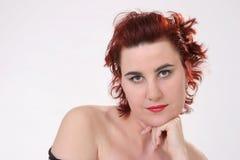 Beauté avec le cheveu rouge Photo stock