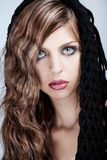 Beauté avec le long cheveu blond Image stock