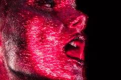 Beauté avec le scintillement rouge Photo libre de droits