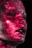 Beauté avec le scintillement rouge Photo stock