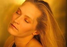 Beauté blonde de rêverie Photo stock