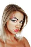 Beauté blonde femelle attrayante image stock