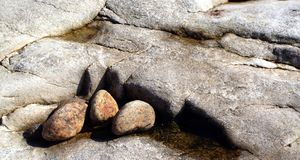 Beauté cachée du granit de Maine Image stock