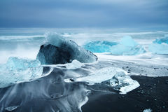 Beauté d'île de l'Islande, paysage dramatique images stock