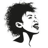 Beauté d'Afro Photographie stock libre de droits