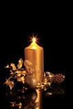 Beauté d'or de Noël Photos stock