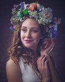 Beauté d'Ethno Belle jeune femme photo stock