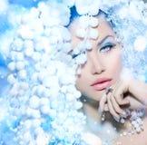 Beauté d'hiver photo stock
