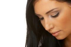 Beauté d'une chevelure noire Photo stock
