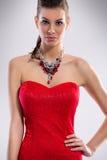 Beauté dans la robe de luxe Images libres de droits