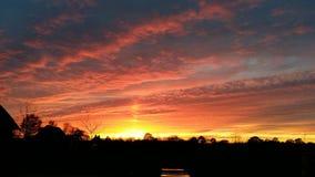 Beauté de coucher du soleil Image libre de droits