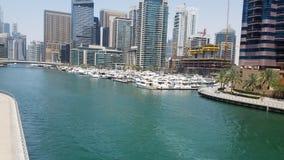 Beauté de Dubaï de lac de marina de Dubaï photo stock