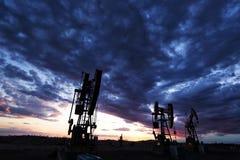 Beauté de gisement de pétrole Images libres de droits