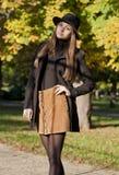 Beauté de mode d'automne images stock