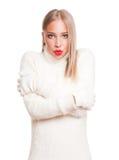 Beauté de mode d'hiver Photos libres de droits