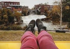 Beauté de petite ville du Vermont Photos stock