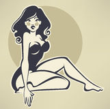 Beauté de pin-up illustration libre de droits