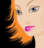 beauté de Rouge-cheveu illustration libre de droits