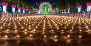 Beauté des bougies pendant la nuit Image stock