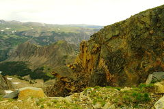 Beauté des montagnes de beartooth images libres de droits