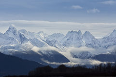 Beauté des montagnes de Chilkat, Haines, Alaska Photographie stock libre de droits