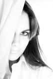 Beauté en noir et blanc Images libres de droits