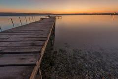 Beauté et coucher du soleil calme Photographie stock libre de droits