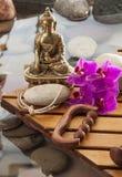 Beauté et méditation intérieures pour le bien-être naturel Image libre de droits