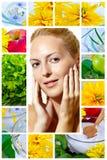 Beauté et santé. Skincare, espace libre, santé Images libres de droits
