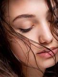 Beauté humide de cheveux Photographie stock libre de droits