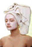 Beauté masquée - demande de règlement faciale photo stock