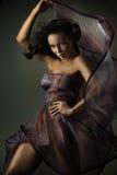 Beauté mignonne de brunette Images stock