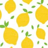Beauté moderne de citrons de Frash sans couture illustration libre de droits
