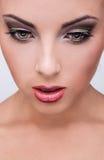 Beauté naturelle de santé d'un visage de femme Image stock