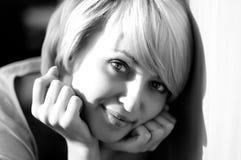 Beauté noire et blanche Photographie stock