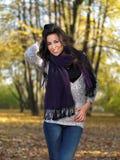 Beauté pendant l'automne Photo stock
