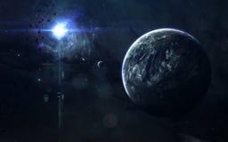Beauté, planètes, étoiles et galaxies d'espace lointain en univers sans fin Éléments de cette image meublés par la NASA Photographie stock