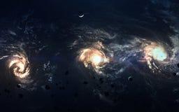 Beauté, planètes, étoiles et galaxies d'espace lointain en univers sans fin Éléments de cette image meublés par la NASA Image stock