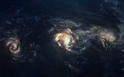 Beauté, planètes, étoiles et galaxies d'espace lointain en univers sans fin Éléments de cette image meublés par la NASA Image libre de droits