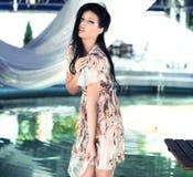 Beauté renversante de brunette Photos libres de droits