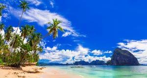 Beauté sauvage étonnante des îles de Philippines Palawan, EL Nido image libre de droits